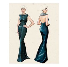 fashion illustration for a redcerpet gown  #fashion #luxury #style #illustration #vintage #mywork #sparkling #fashionillustration #graphic