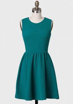 Skip A Beat Textured Dress In Teal   Modern Vintage Dresses   Modern Vintage Clothing