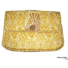 Clutch Purse Modern Golden Ikat Padded Tablet Cover (2.040 ISK) via Polyvore featuring accessories, tech accessories and tablet sleeve