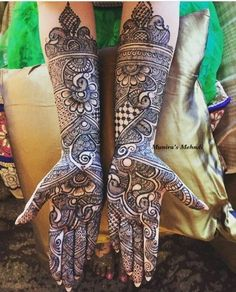 Arabic Mehendi Designs - Check out the latest collection of Arabic Mehendi design ideas and images for this year. Arabic mehndi designs are the most fashionable and much in demand these days. Arabic Mehndi Designs Brides, Indian Henna Designs, Full Hand Mehndi Designs, Henna Art Designs, Mehndi Designs 2018, Mehndi Designs For Girls, Modern Mehndi Designs, Dulhan Mehndi Designs, Wedding Mehndi Designs