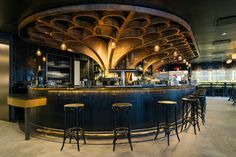 Wander Through Le District, the 'French Eataly' of Brookfield Place - Eater NY Bar Interior Design, Bar Design, Lounge Design, Restaurant Interior Design, Design Studio, Restaurant New York, Cafe Restaurant, Art Deco Bar, Bar Lounge