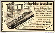 Original-Werbung/ Anzeige 1897 - SOHLINGER LEINEN- VERSANDTHAUS / KATZENSTEIN…