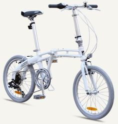 "GOTHAM2 Citizen Bike 20"" 7-Speed Folding Bike with Alloy Frame (Pearl)"