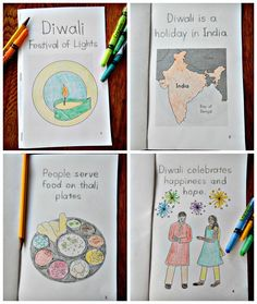 Good for a large group lesson to fill out and color to learn about India and Diwali that they could then keep in their book tubs.