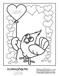 free valentine coloring pages for the class party freckleboxcom
