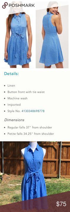 """Anthro Printemps Linen Shirtdress by HD In Paris 2 Bust 15.5"""", waist 14"""", length 35"""" Anthropologie Dresses"""