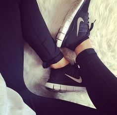 Loving the black and white Nikes..