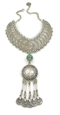 Silver Turkish Interlocking Collar by IsabellaRaeJewelry