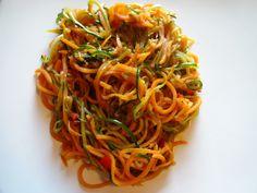 Edel's Mat & Vin : Asiatisk grønnsaksspaghetti med squash & søtpotet !