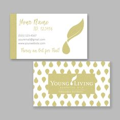 My business cards!! Young Living Member # 1589411 | young living ...
