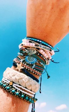 stack it with a collection of cute bracelets , Friendship bracelets and gift your special friends ❤ bracelets Treasure Jewelry Stacking Bracelets Cute Jewelry, Boho Jewelry, Jewelery, Jewelry Accessories, Women Jewelry, Bohemian Accessories, Summer Accessories, Summer Bracelets, Cute Bracelets