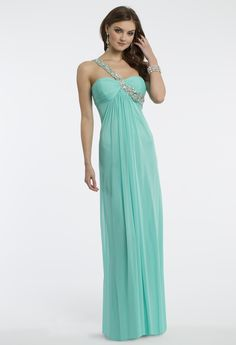 Camille La Vie Mesh Empire One Shoulder Prom Dress