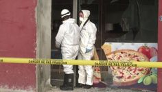 A kebab shop near a Muslim temple was targeted in the early hours of the morning following the terrorist attack - in which 12 people were murdered by suspected Islamist fanatics.