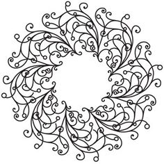 Deck the halls in delicate style with this intricate wreath design! Downloads as a PDF. Use pattern transfer paper to trace design for hand-stitching.