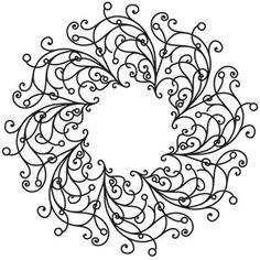 Filigree Wreath design (UTH5497) from UrbanThreads.com