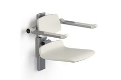 Enware | EP-R7430182 Pressalit Care Plus 450 Shower Seat with Backrest and Folding Arms - Manually Height Adjustable