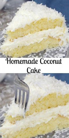 Coconut Cake a delicious soft moist cake with a creamy cream cheese frosting. Topped with coconut flakes a perfect Christmas dessert. Coconut Cake Easy, Best Coconut Cake Recipe, Coconut Sheet Cakes, Coconut Frosting, Coconut Desserts, Coconut Recipes, Coconut Cupcakes, Recipe With Coconut Flakes, Coconut Cake From Scratch