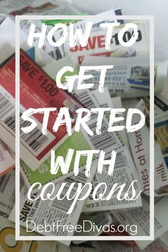How To Get Started With Coupons - This is a great primer for those looking to get started saving with coupons. Are you leaving money on the grocery store conveyer belt?