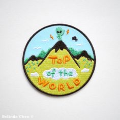 Top of the World Iron On Patch by BelsArt on Etsy https://www.etsy.com/listing/267655377/top-of-the-world-iron-on-patch