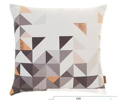 Copper Geometric Cushion | 22 Stunning Copper Items You Need In Your House