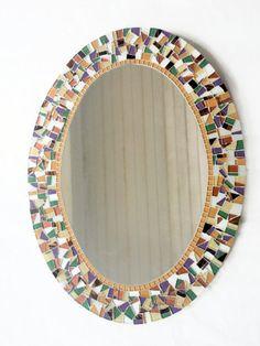 Mosaic Mirror Oval Mirror Home Decor  You by GreenStreetMosaics, $195.00