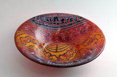 Glass bowl in transparent orange glass by StudioSwedishLapland, kr1500.00