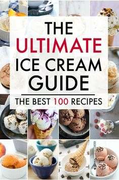 The Ultimate Ice Cream Recipes Guide- Nothing says summer better than ice cream. Don't miss this Ultimate Ice Cream Recipes Guide. From traditional chocolate to raspberry sorbet and everything in between, you're sure to find the perfect summer treat. Ice Cream Desserts, Frozen Desserts, Sweet Desserts, Frozen Treats, Sweet Recipes, Dessert Recipes, Healthy Recipes, Achiote, Mantecaditos