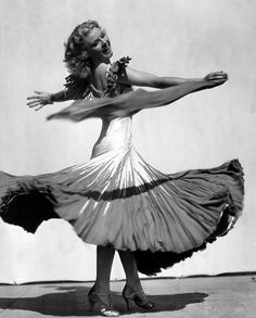Ginger Rogers in the Continental dress from the Gay Divorcée