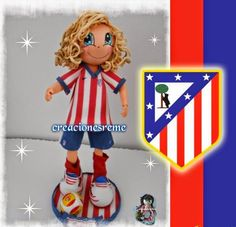 Muñequitas de goma eva Creacionesreme fofucha atletico de Madrid #fofucha #atleticodemadrid #futbol
