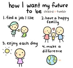 Yup. This is what I want, I want a career, a family of dogs and other cute pets, be happy as can be, and be able to give back to my community and those in need. I can do it :) I know I can!