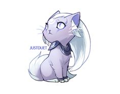 Diana cat - JustDuet - pastel purple