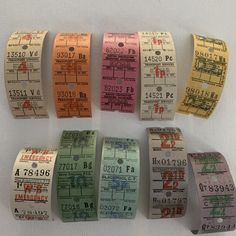 Excited to share this item from my #etsy shop: 30 Vintage Bus Tickets 1960's/1970's, Mixed Media Vintage Papers, Vintage Ephemera Journal Supplies