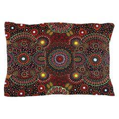 Bohemian Stars Pillow Case on CafePress.com