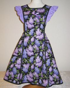 Love the lilacs in this pretty print apron.