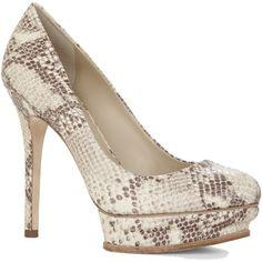 BCBGMAXAZRIA Pamela High-Heel Platform Pump ($109) ❤ liked on Polyvore featuring shoes, pumps, roccia, high heel pumps, leather upper shoes, bcbgmaxazria, python shoes and high heel platform shoes
