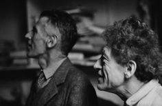 Samuel Beckett and Alberto Giacometti in the latter's studio. Alberto Giacometti, Samuel Beckett, Artists And Models, Its A Mans World, Sculpture, Land Art, Male Face, Persona, Street Art