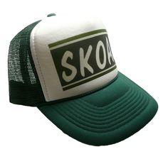 1992d86f41a2d Vintage Skoal hat chewing Tobacco Trucker hat dark green NASCAR racing hat  new  Truckerhat