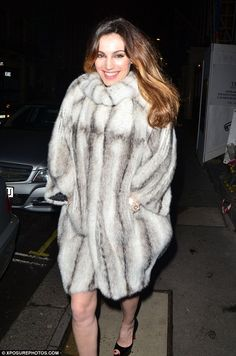 Marc Kaufman Furs NY: Kelly Brook in a Gorgeous Fur Coat on New Year's E...