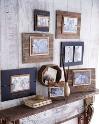 create a wall collage with mud pie wooden frames - Mud Pie Frames