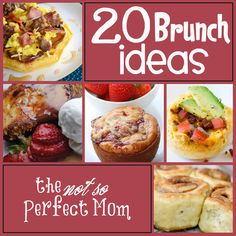 20 Brunch Ideas: perfect for Mother's Day! The Not So Perfect Mom Egg And Cheese Sandwich, Bacon Egg And Cheese, Brunch Recipes, Breakfast Recipes, Brunch Ideas, Breakfast Ideas, Dinner Ideas, Breakfast For Dinner, Breakfast Time