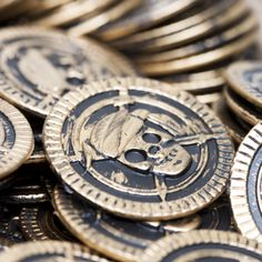 Find your Treasure with Pirate Gold Coins! Use fake gold coins for all your pirate party needs. The gold pirate coins are perfect for filling treasure…