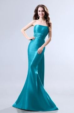 Strapless Elegant Evening Gown - Order Link: http://www.theweddingdresses.com/strapless-elegant-evening-gown-twdn7065.html - Embellishments: Ruching; Length: Court Train; Fabric: Taffeta; Waist: Natural - Price: 130.99USD