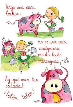 Los mundos de Esthercita: La vaca lechera Spanish Teaching Resources, Spanish Activities, Spanish Language Learning, Spanish Songs, Spanish Lessons, How To Speak Spanish, Learn Spanish, Baby Songs, Kids Songs
