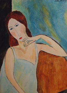 Watercolor paint Cristina 18 x 25 cm Solgt!