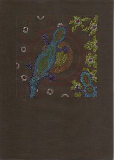 1A 1B: aboriginalkunst: dot-painting