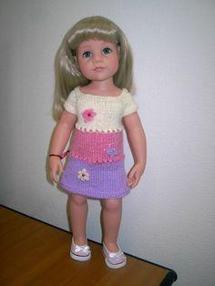Вяжем платье спицами для куклы Gotz своими руками / Мастер-классы, творческая мастерская: уроки, схемы, выкройки кукол, своими руками / Бэйбики. Куклы фото. Одежда для кукол