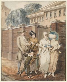Attributed to John Lewis Krimmel | Sunday Morning in front of the Arch Street Meeting House, Philadelphia | The Met