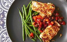 The new vegetarian: tofu escalope milanese with caper and raisin salsa recipe - Nix the raisins.