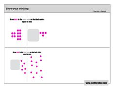 Patterning & Algebra – Share Your Thinking Printouts – Math Before Bed Algebra, Prompts, Dots, Bed, Pattern, How To Make, Stitches, Stream Bed, The Dot