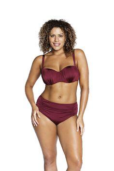 199f1d4e6d Robyn Lawley She Said Ruched Bikini Plus Size Bikini